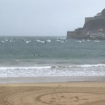 Surfen in La Concha wenn es bei Zurriola für mch zu groß ist